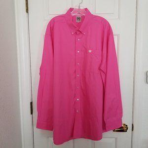 Cinch XL Western Pink Long Sleeve Shirt